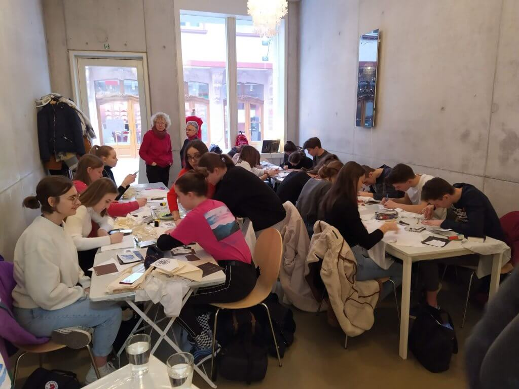 Darstellung unseres Textil Druck Workshops